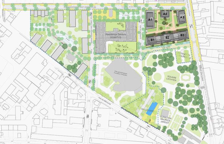 Plan de situation Les Jardins du Square à Belfort